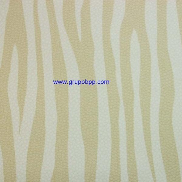 Papel pintado vin lico dibujo cebra marr n claro y beige for Rollo papel vinilico