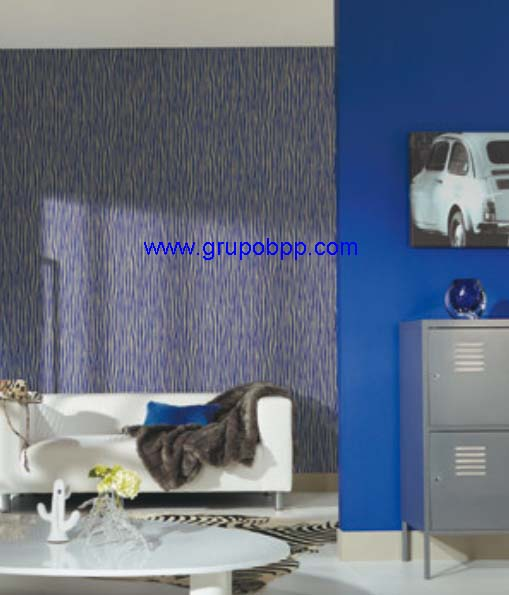 Papel pintado vin lico dibujo cebra azul y gris boutique for Papel pintado cebra