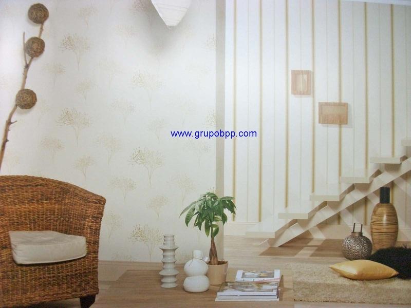 Papel pintado motivo floral tono degradaci n amarillo for Papel pintado tonos beige