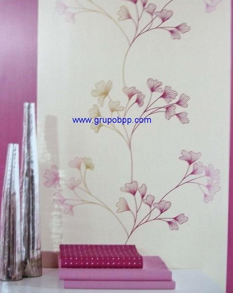 Papel pintado motivo floral tono naranja con degradaci n for Boutique del papel pintado