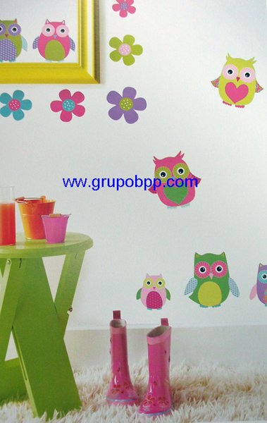 Autoadhesivo buhos boutique del papel pintado for Papel pintado autoadhesivo