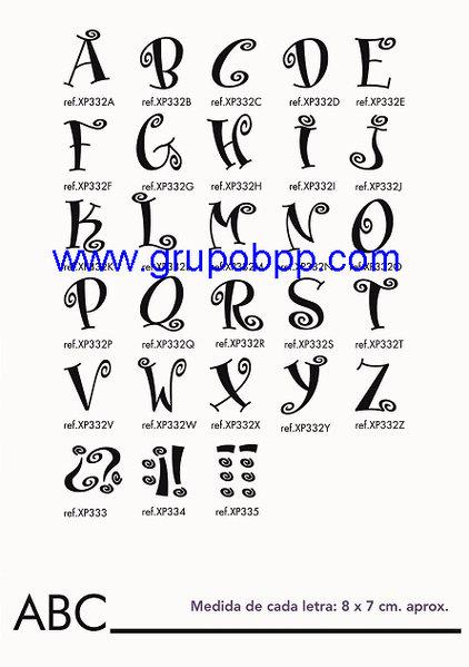 Vinilo adhesivo letras abecedario boutique del papel - Letras adhesivas para pared ...