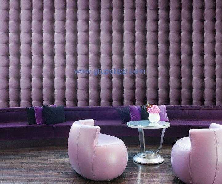 papel pintado efecto cuero acolchado morado boutique del papel pintado. Black Bedroom Furniture Sets. Home Design Ideas
