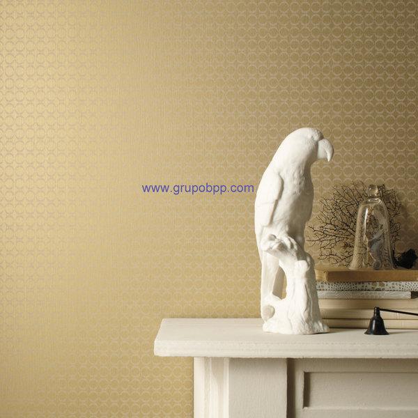 Papel pintado mini circulos tonos beige boutique del for Papel pintado tonos beige