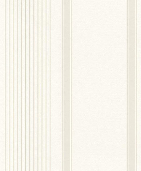Papel pintado rayas irregulares beige fondo blanco for Boutique del papel pintado