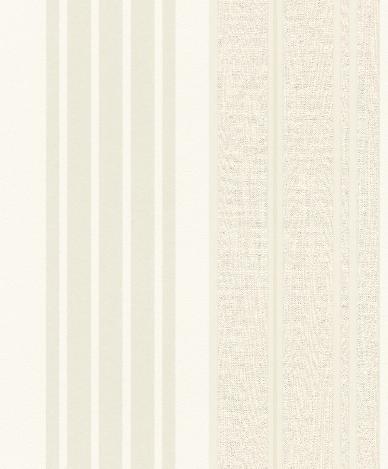 Papel pintado rayas diferentes texturas blanco roto for Boutique del papel pintado