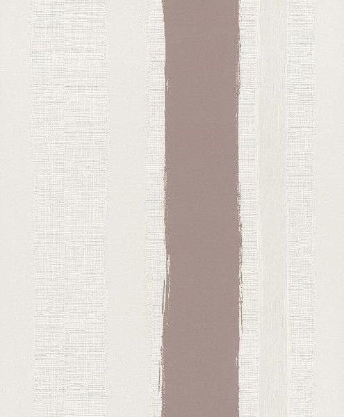 Papel pintado rayas diferentes texturas marr n blanco y for Papel pintado turquesa y marron