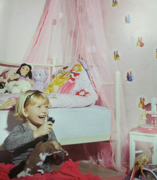 Papel pintado princesas disney fondo lila boutique del for Papel pintado disney
