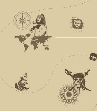 papel pintado piratas