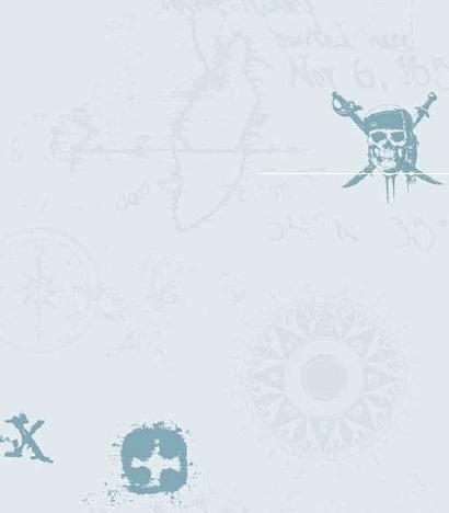 Papel pintado piratas del caribe tonos azules claro - Papel pintado piratas ...