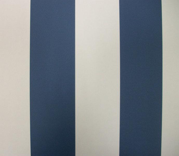 Papel pintado rayas 6 5 cm azul marino y blanco for Papel pintado azul