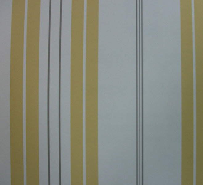 Papel pintado rayas mostaza blanco y gris boutique del - Papel pintado rayas gris y blanco ...