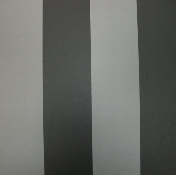 Papel pintado rayas 6 5 cm gris y negro boutique del - Papel pintado rayas grises ...
