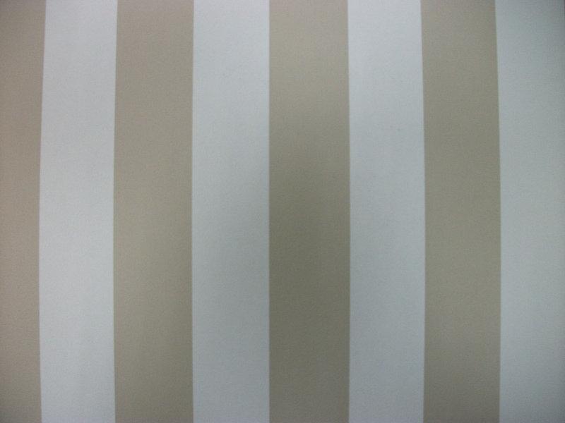 Papel pintado rayas 3 3 cm beige y blanco boutique del for Papel pintado blanco