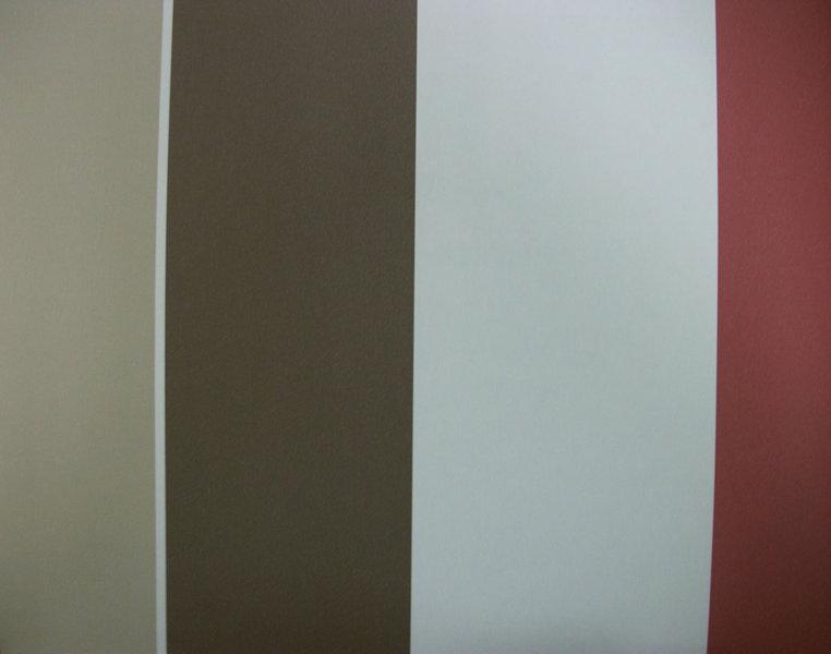 Papel pintado rayas 10 cm marr n beige y granate for Papel pintado marron