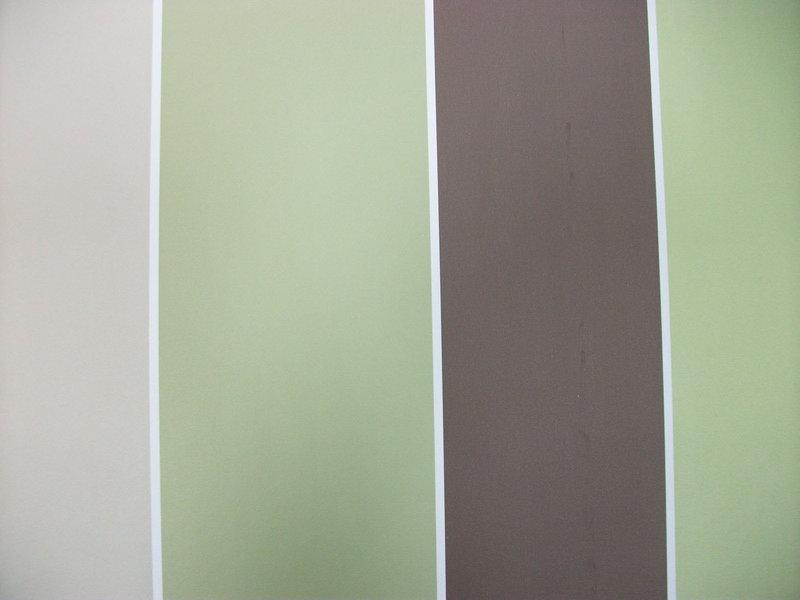Papel pintado rayas 10 cm marr n verdes y beige for Papel pintado rayas verdes