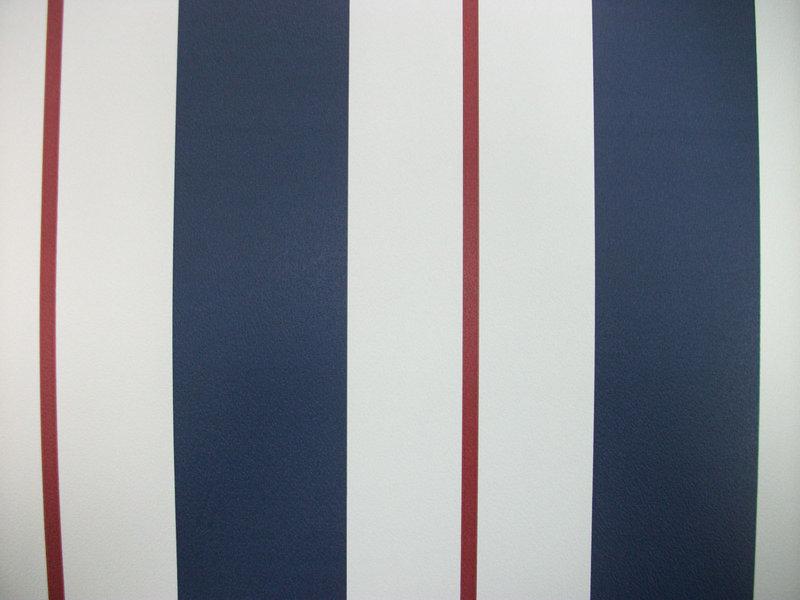 Papel pintado rayas azul oscuro blanco y granate for Papel pintado blanco y plata