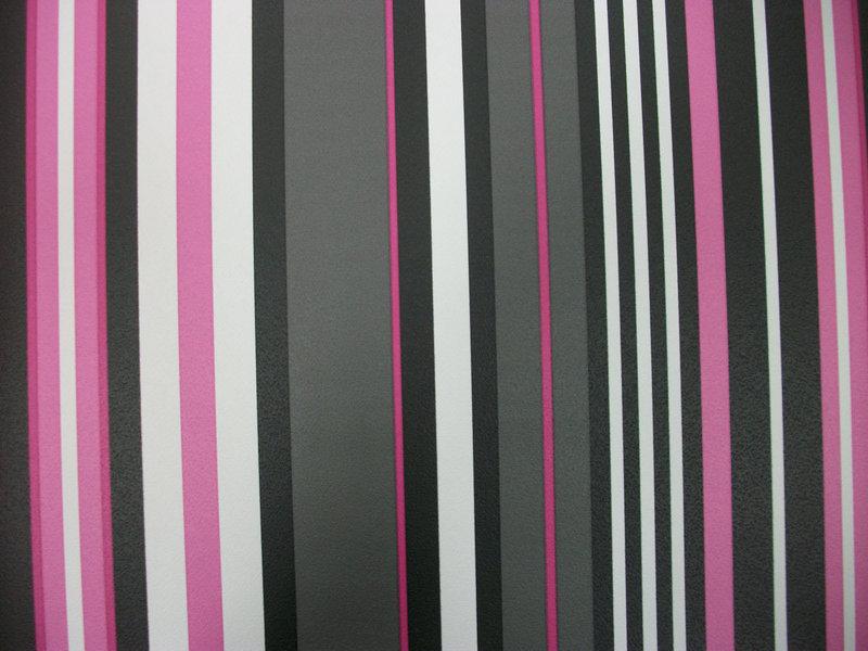 Papel pintado rayas tonos negro rosa y blanco boutique - Papel pintado rayas gris y blanco ...