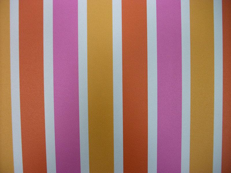 papel pintado rayas 3 2 cm tonos naranja y rosa