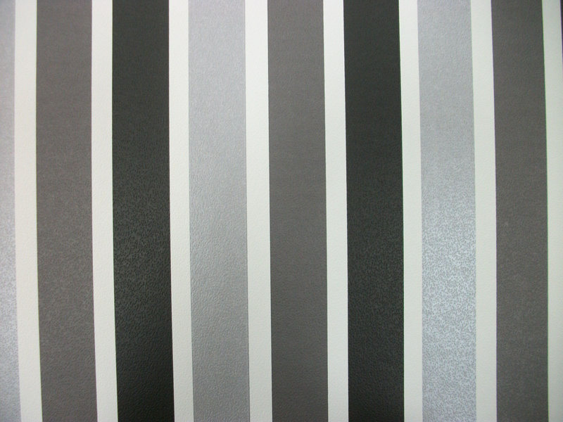 Papel pintado rayas 3 2 cm grises y negro boutique del - Papel pintado blanco y plata ...