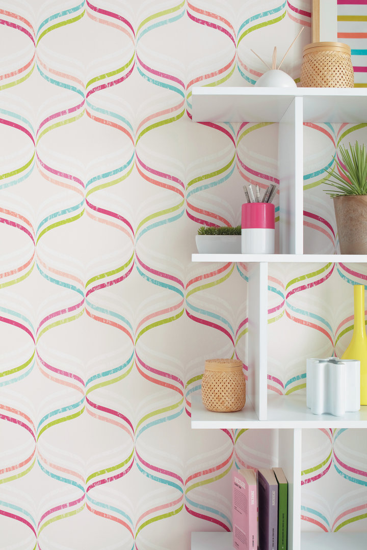 Papel pintado stockholm colores vivos boutique del papel - Papel pintado colores ...