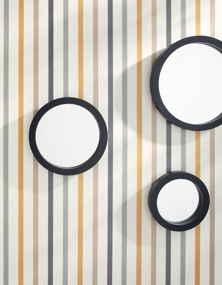 Papel Pintado Rayas Tonos Azul Amarillo Y Gris Fondo Blanco  ~ Papel Pintado Rayas Gris Y Blanco