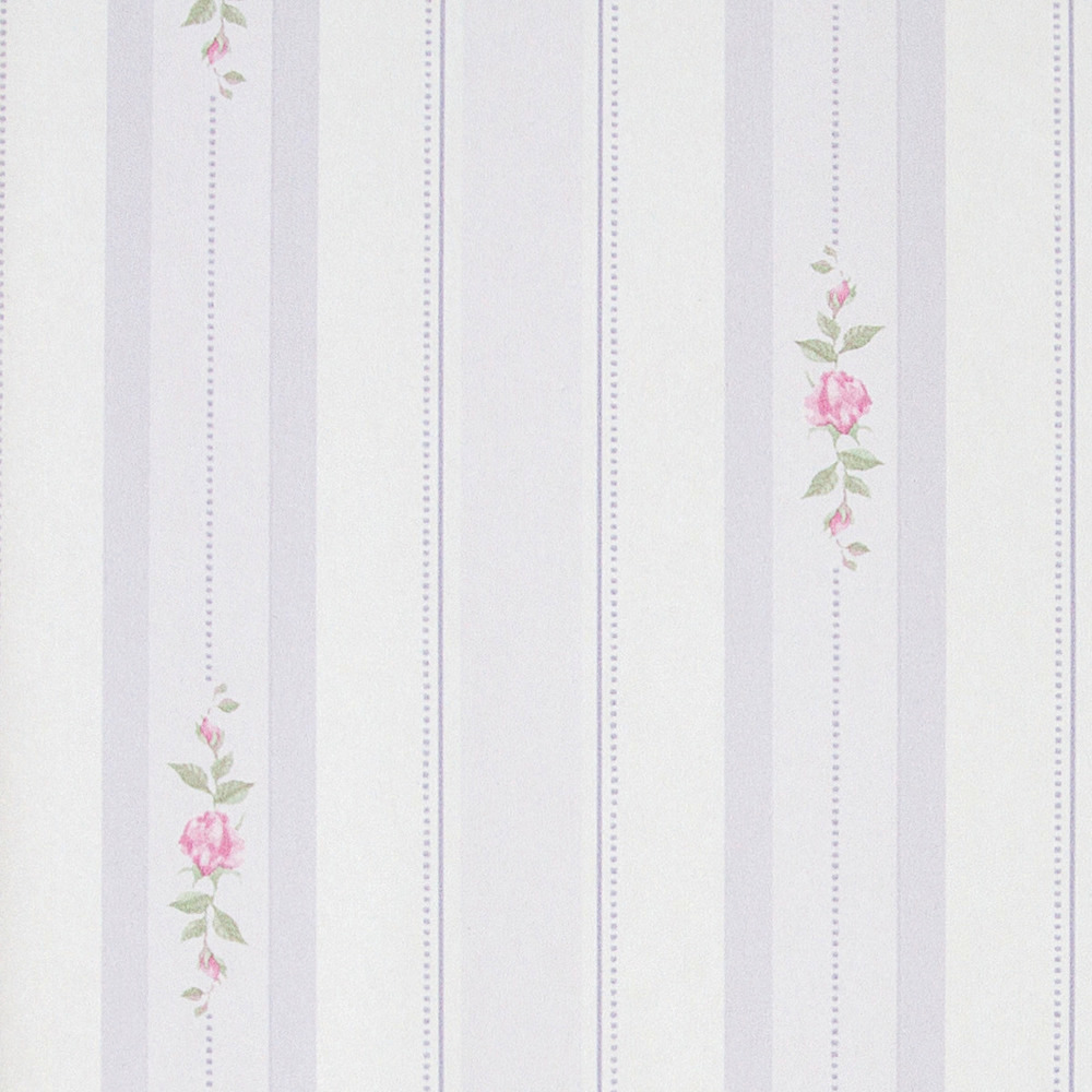 Papel pintado floral rayas william morado boutique del for Boutique del papel pintado