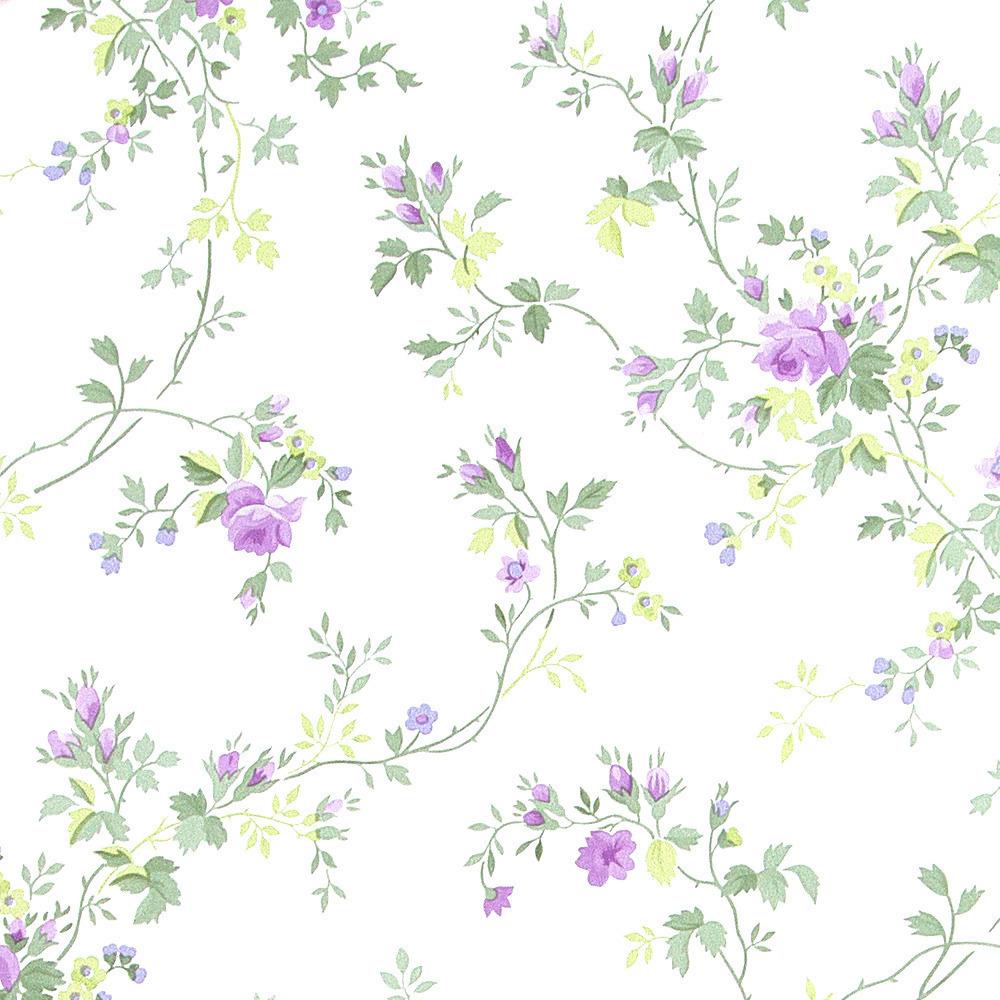 Papel pintado floral shelley morado boutique del papel - Papel pintado morado ...