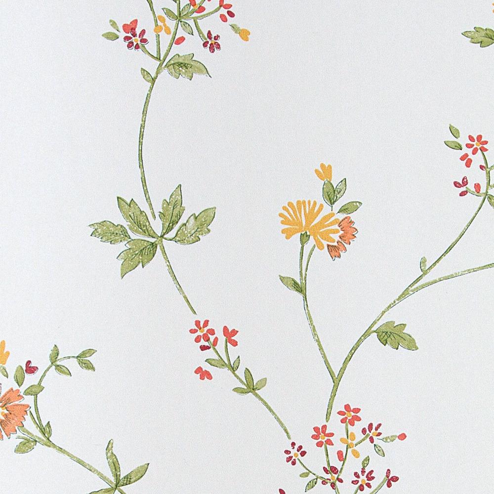 Papel pintado floral saavedra rojo boutique del papel for Papel pintado rojo