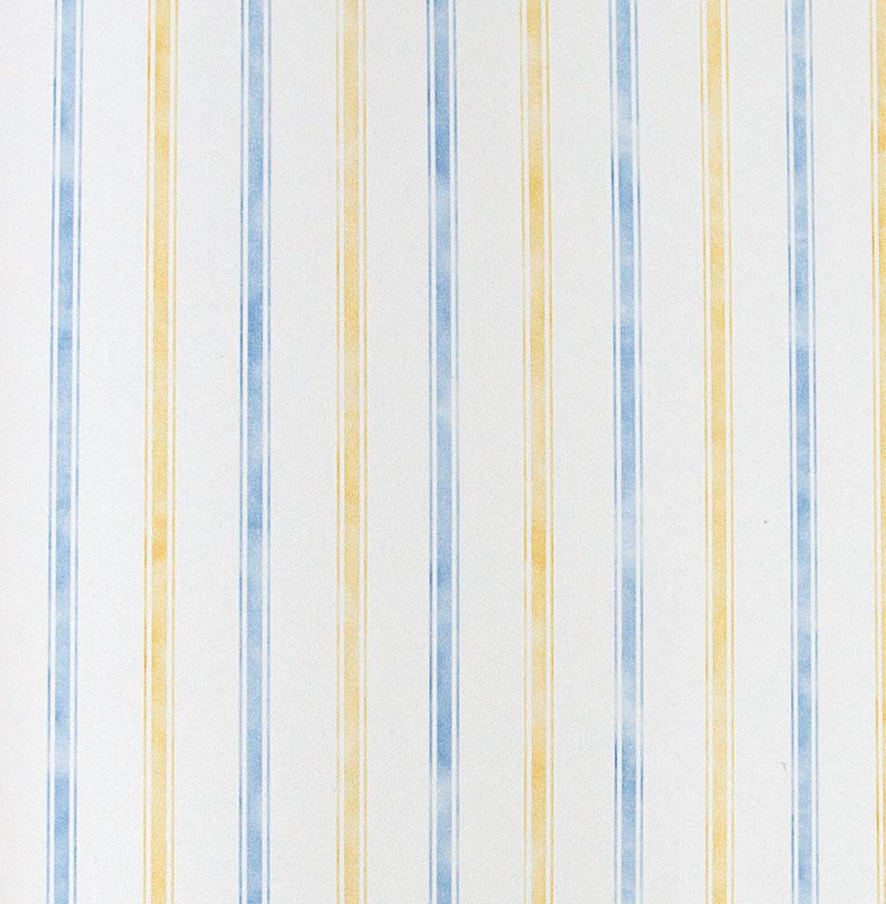 Papel pintado rayas fina amarilla y azul boutique del for Papel pintado azul y plata