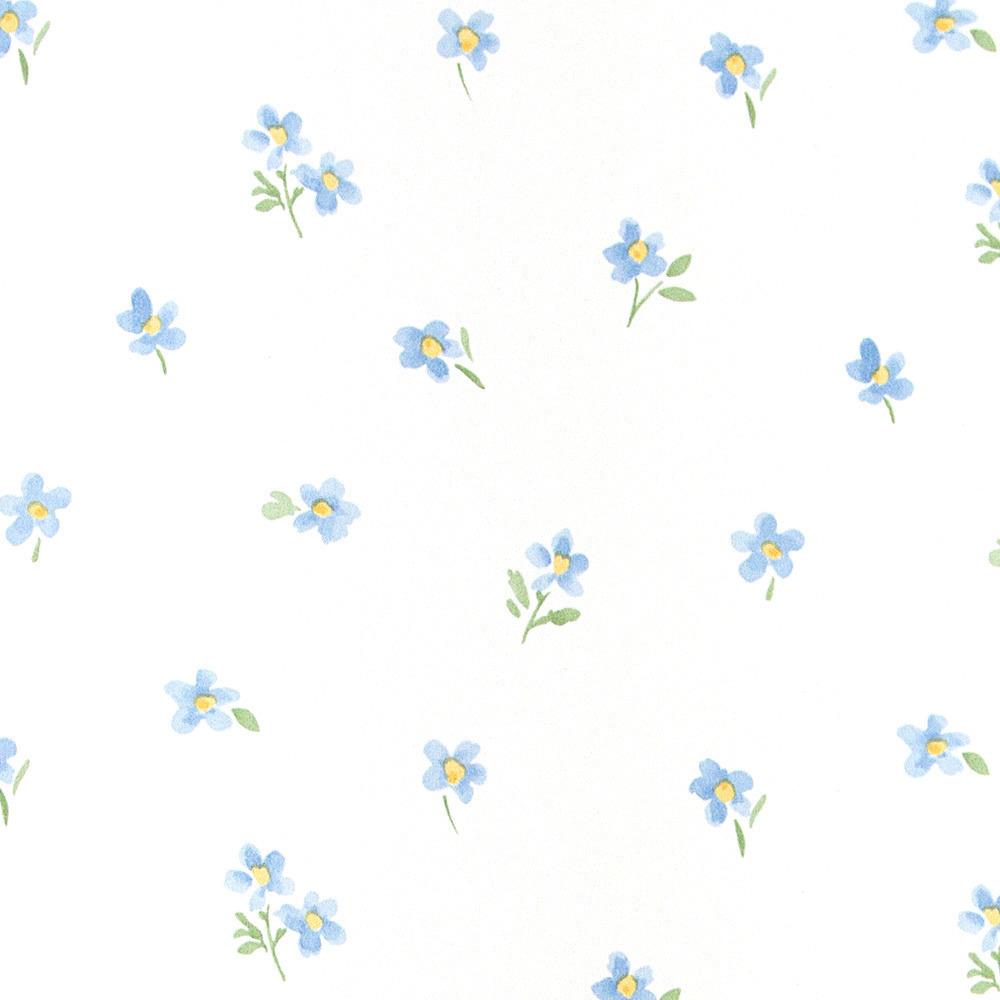 Papel pintado floral dickens azul boutique del papel for Papel pintado azul
