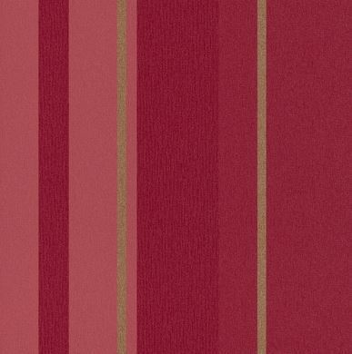 Papel pintado rayas rojo fuerte y dorado boutique del for Papel pintado dorado