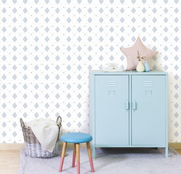 Papel pintado rombos gris boutique del papel pintado - Papel pintado para habitacion juvenil ...