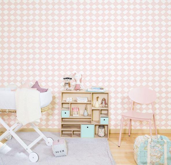 Papel pintado rombos beige boutique del papel pintado for Boutique del papel pintado