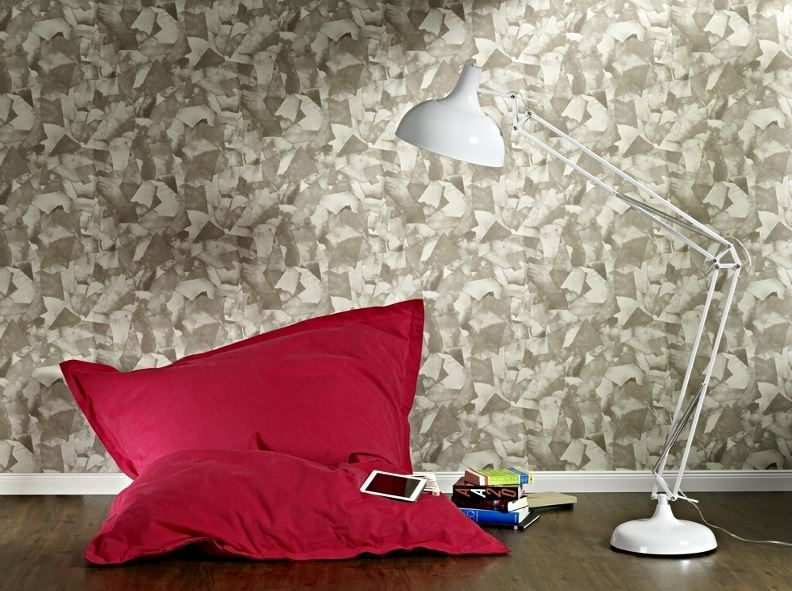 Papel pintado recortes papel marr n boutique del papel for Boutique del papel pintado