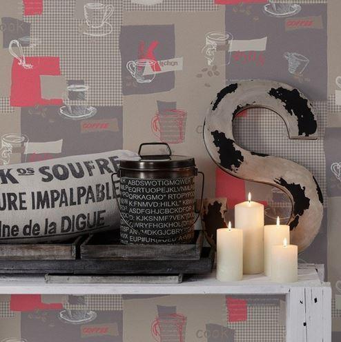 Papel pintado cocina gris y fucsia boutique del papel for Papel pintado fucsia