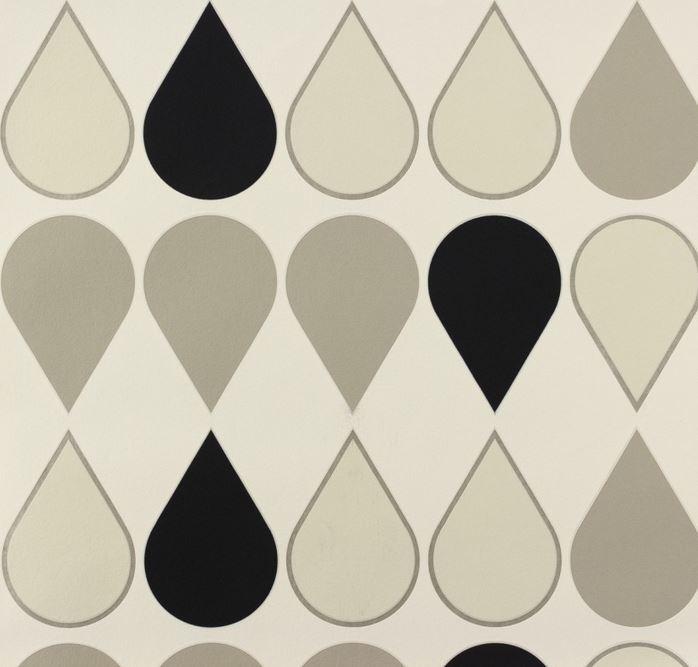 Papel pintado blanco y negro bao pequeo con papel pintado - Papel pintado blanco y plata ...
