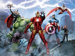 Mural Marvel Superheroes